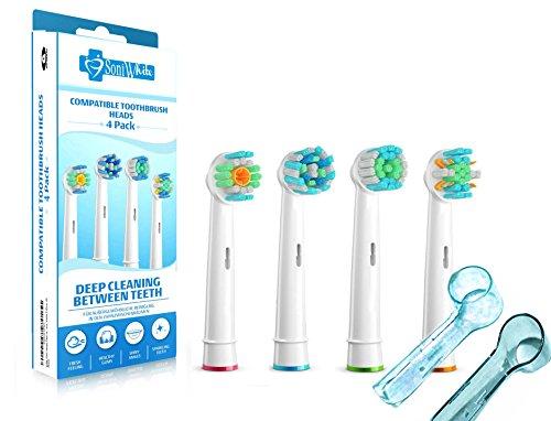 soniwhiter-4-pack-variety-pack-tetes-de-rechange-generiques-avec-action-fil-dentaire-pour-brosse-a-d