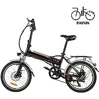 BIKFUN Faltbares Elektrofahrrad, 20 Zoll E-Bike, 36V 8Ah Lithium-Akku, 250W Motor, 7 Gang, 20 Meilen Pedelec