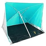 COM-FOUR® Strandschirm mit UV-Schutz und Windschutz, Sonnenschirm für den Strand in grün, 170x170cm