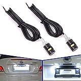 Safego Pair 12mm Weiß LED Kennzeichenbeleuchtung Schraubenbolzen Screw Blot Licht für KFZ Auto Nicht Canbus