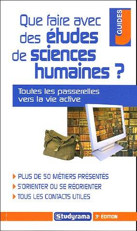 Que faire avec des études de sciences humaines ?