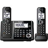 Panasonic Black Digital Cordless Phone And Answering Machine With 2 Handsets - KX-TGF342B