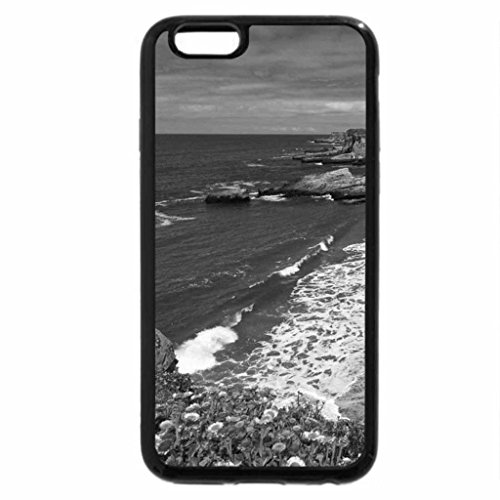 iPhone 6S Case, iPhone 6 Case (Black & White) - Panther Beach, Santa Cruz, CA (Santa Panthers)