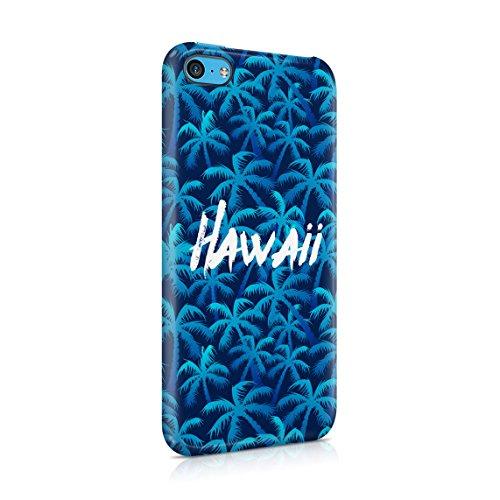 Hawaii The Island Of Aloha Chill Tropical Sommer Beach Good Vibes Dünne Rückschale aus Hartplastik für iPhone 7 & iPhone 8 Handy Hülle Schutzhülle Slim Fit Case cover Blue Hawaii