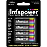 Infapower AA 2700mAh Longlife Rechargeable Batteries - 4 Pack