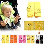 Inchant Kids Infant Cartoon Animal Soft Safety Seat Belt Cover Strap Cover Shoulder Pad/Cushion (Yellow Chicken)