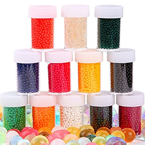 12 Colors Water Beads ( Almost 20,000 ) Growing Jelly