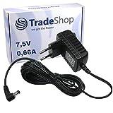 Netzteil Ladekabel Ladegerät 7,5V/0,66A (660mA) 5,5mm x 2,1mm für Babyphone Babyfon Philips Avent SCD510 SCD510/00 SCD520 SCD525 SCD525/00 SCD526 SCD530 SCD535 SCD536 baby-Einheit ersetzt SSA-5W-09EU075040F