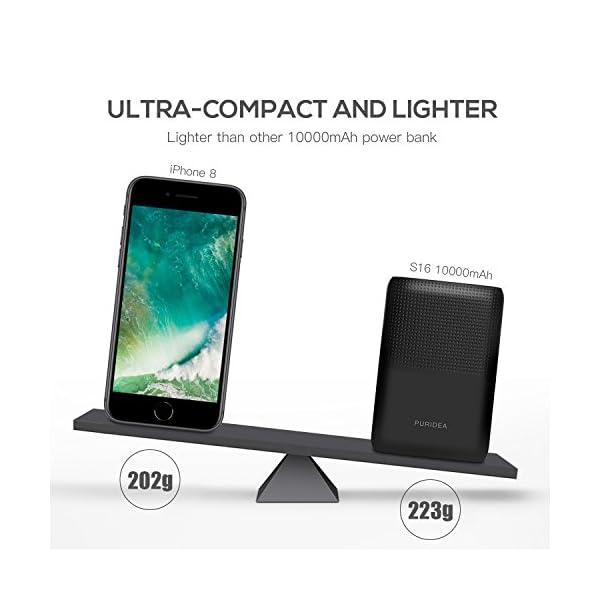 10000mAh Powerbank, Puridea Batteria Esterna per Cellulare Portatile (2 Puertos, LCD Indicada) Power Bank para iPhone 7… 3 spesavip