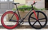 Vélo single speed fix- 5Light Black-Red. T54cm