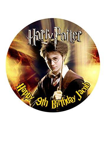 Harry Potter Décoration pour gâteau personnalisée Glaçage Sucre Papier 19,1 cm image E4
