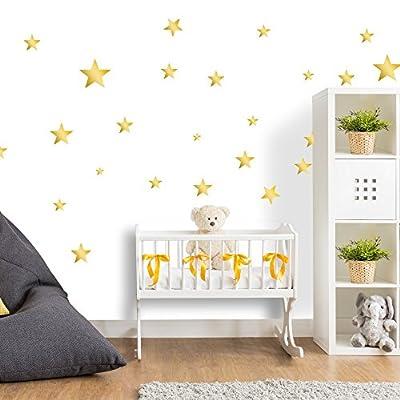 Wandtattoo Sterne fürs Kinderzimmer - Wandsticker Set - Pastell Farben für Baby Sternenhimmel zum Kleben Wandaufkleber Sticker Wanddeko - Wandfolie für Kleinkinder und Erstausstattung Dekoration von ELES VIDA auf TapetenShop