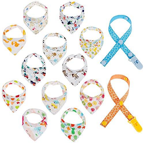 Lictin 12 pcs baberos Bufanda triángulo para bebés y niños pequeños con...
