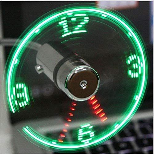 Hand Mini-USB-Ventilator tragbare Geräte flexible Schwanenhals LED-Uhr Cool For Laptop PC Notebook Echtzeitanzeige dauerhaft Adjustable, China