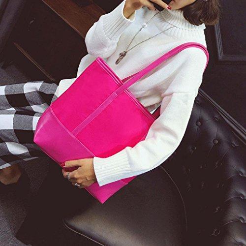 ZARU Art- und Weisehandtasche, Schulter-Beutel-große Tote-Damen-Geldbeutel Pink
