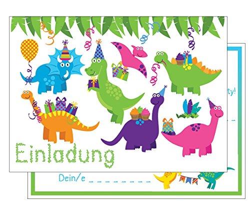 (Set: 15 Einladungskarten Kindergeburtstag: Dinosaurier Geburtstagseinladungen Einladungen Geburtstag Kinder Jungen Mädchen (15 Karten ))