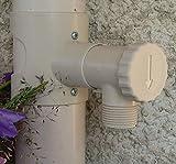 Capt'eau - Recuperatore di acqua piovana, per condutture circolari + filtro, colore: Sabbia