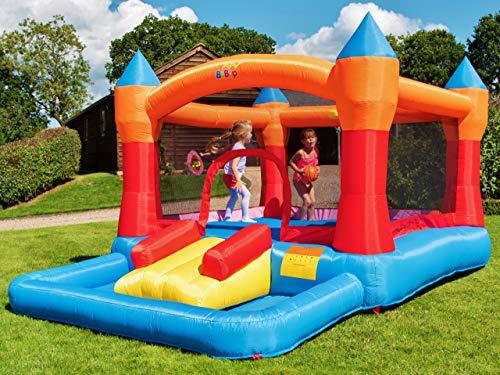 BeBop Grand château Gonflable avec Piscine à Boules Turret pour Enfants