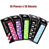 Desechables uñas Peel Off cintas 100pcs en 5colores, uñas pintura guía Mess Saver uñas arte herramienta básica accesorios