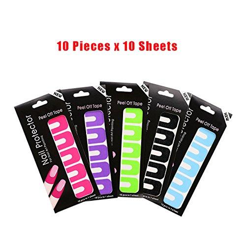 Nastri per unghie usa e getta, 100 pezzi in 5 colori, guida per la pittura delle unghie, strumento di base