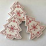 Die besten Herzen aus Holz Geschenk Garten-Freunde-Herzen - Fygrend - 10pcs / Set Weiß Rot Weihnachtsbaum Bewertungen
