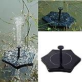 masrin Solar Power Vogeltränke Brunnen Wasser schwimmende Teich Garten Terrasse Dekoration Hexagon