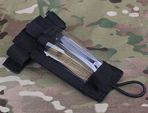 Dummies Gps (AIRSOFT EMERSON DUMMY GPS DITRESS MARKER POUCH BLACK SWAT VELCRO WRISTBAND UK)