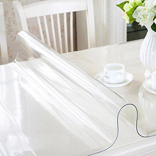 Imperméable nappe Toile en PVC Matière imperméable à l'eau en verre souple Papier peint transparent extrêmement épais Toiles en plastique Table basse en cristal table à manger (épaisseur facultative) (taille facultative) pour dîner ( Couleur : 1.5mm , taille : 40*60cm )