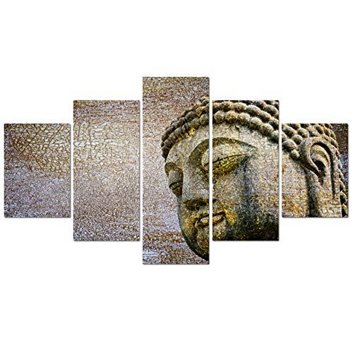 ZAINALIA Cartel Lienzo Marco Moderno Salón Decoración del Hogar Figura De Buda Imagen Pintura Arte de La Pared Modular Impreso Poster Cuadrod,Sin Marco 30x40 30x60 30x80cm