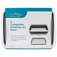 Ashley Unisex BB-CB250 7L Collapsble Collapsible Washing up Basin, Grey/White, Medium