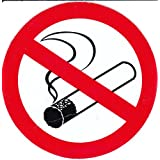 Interdit - fumeur - 10 cm de diamètre autocollant Autocollants