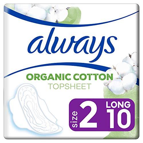 Always Ultra Cotton Protection Lang (Größe2) Binden Mit Flügeln 10Stück
