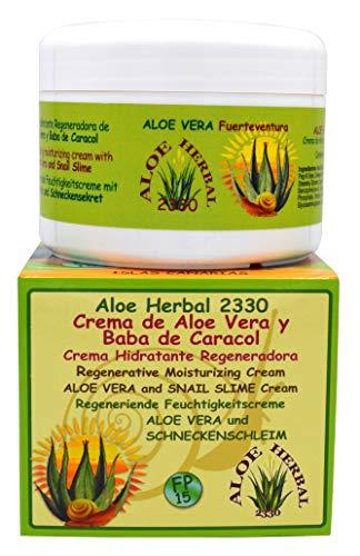 Aloe Herbal 2330 Crema hidratante regeneradora de Aloe Vera y baba de caracol 200ml