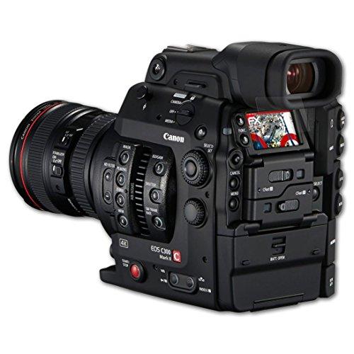Canon EOS C300 Mark II Panzerfolie - 3 x atFoliX FX-Shock-Antireflex blendfreie stoßabsorbierende Panzerschutzfolie Displayschutzfolie