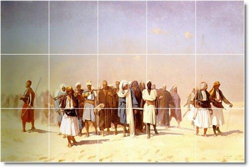JEAN GEROME HISTORICA BALDOSA CERAMICA MURAL 21  18X 30CM CON (15) 6X 6AZULEJOS DE CERAMICA
