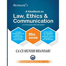 Law, Ethics and Communication For CA Intermediate(IPC)(Old Syllabus) November 2018, 20th Edition by CA CS MUNISH BHANDARI
