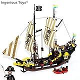 Piratenschiff 560 Teile - 6 Figuren Kanone Karibische See Kompatibel (307) Neu