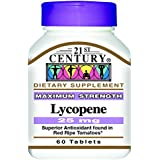 21st Century Health Care - 60 Comprimés de Lycopène - Antioxydant à base de Tomates Mûres Enrichies - 25 mg
