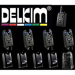 Delkim TXI Plus Lot de 4(4détecteurs de touche TXI Plus Bleu + 1récepteur Récepteur Delkim RX Plus Pro 6LED)