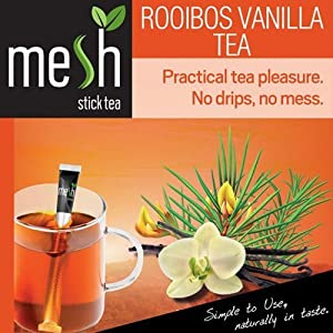 Maille Rooibos Vanille thé 30 Baguettes - thé jouir facile à préparer - Aucun Sac, aucun Gouttes, aucun Cuillère - manipulation facile, saveur neutre