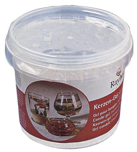 Rayher 3130000 cera gel per candele trasparente contenuto 300gr/ca. 365ml per la realizzazione candele decorative regali natale bricolage uso semplice
