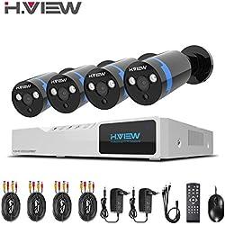 1080P Überwachungskamera System 4 x 1080P Wetterfest HD-Kamera Außen und 4CH DVR ohne Festplatte 1080P Überwachungskamera Set Bewegungsmelder IR Nachtsicht