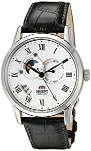Orient Men's Analog Japanese-Automatic Watch with Leather Calfskin Strap FET0T002S0