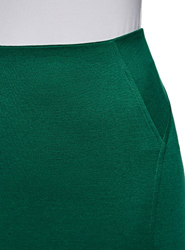 oodji Ultra Donna Gonna a Tubino in Maglia Verde (6E00N)