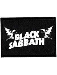 losparches Parche bordado y textil BANDERA BLACK SABBATH 7cm x 5n …