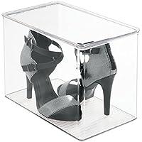 mDesign organizzatore scarpe da armadio per tacchi alti, ballerine, stivali - Trasparente
