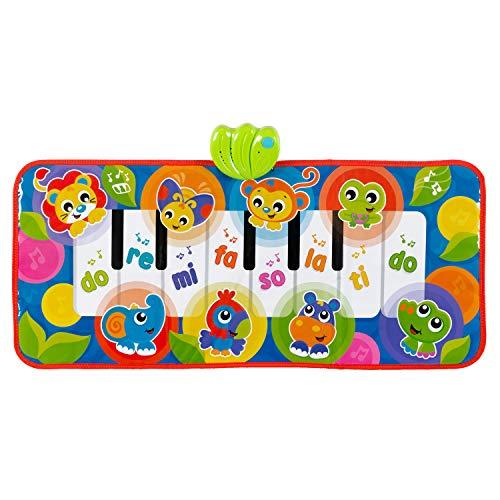 Playgro Jumbo Jungle Klavierspielmatte mit Tiergeräuschen 40206 - Ab 6 Monaten - Mehrfarbig