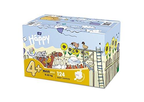 Bella Baby Happy Windeln Maxi Plus Größe 4+ (9-20kg), 124 Stück