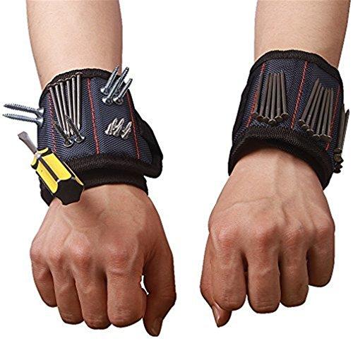 Pulsera magnética con fuertes imanes para guardar tornillos clavos brocas herramienta de mejor regalo para DIY Handyman Hombres Mujeres ctd02