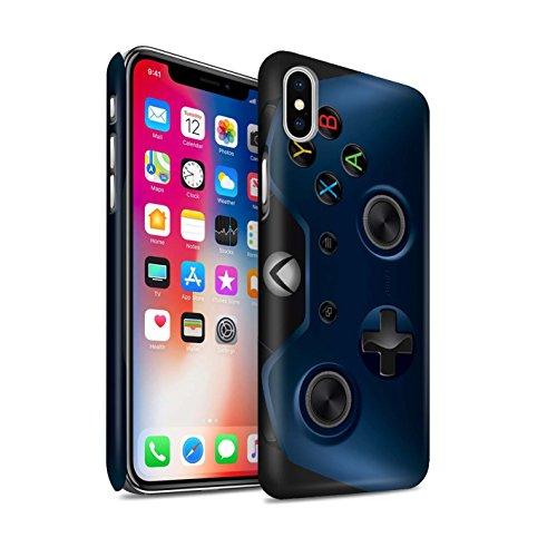 STUFF4 Matte Snap-On Hülle / Case für Apple iPhone X/10 / Rosa Tarnung Muster / Videogamer/Xbox One Kollektion Blau
